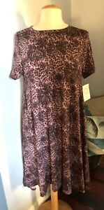 64bcc8ad90f8 Image is loading LulaRoe-Carly-Dress-Cheetah-Animal-Print-Purple-Medium-