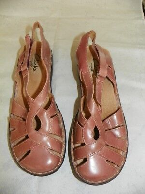 Clarks Active Air Womens Comfort Shoes Sz 8M Pink Leather Slingback Sandals | eBay