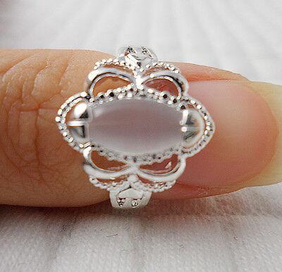 1pcs S80 silver opal GEMS women Engagement rings Size7 JZ36