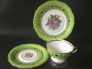 Vintage-WEIMAR-Germany-Bavaria-3-Piece-Tea-Set-Cup-Saucer-Plate