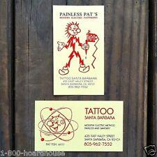 50 Original REDDY KILOWATT Painless Pat Tattoo Parlor SANTA BARBARA Cards 1990s