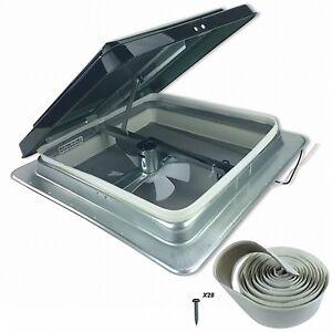 Rv Roof Vent Fan 14in 12v Universal Smoke Lid W Install