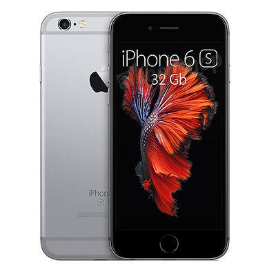 APPLE • iPhone 6s • 32Gb GREY • GARANZIA 2 ANNI • HD 4G LTE Grigio Nero • NUOVO