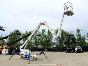 2017 Reachmaster FS95 89' Electric Spider Atrium Boom Lift Man Aerial bidadoo