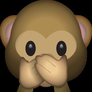 Bügelbild Bügeltransfer Affe Nichts sagen Emoji 10 A4 o DIN A5 alle Stoffe