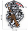 miniature 15 - PIRATE SKULL Embroidered Biker Patches Skeleton Iron / Sew on Badges Grim Reaper