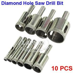 10pc-6mm-30mm-Diamond-Coated-Drill-Bit-Set-Hole-Saw-Glass-Granite-Cutter-Tip-New