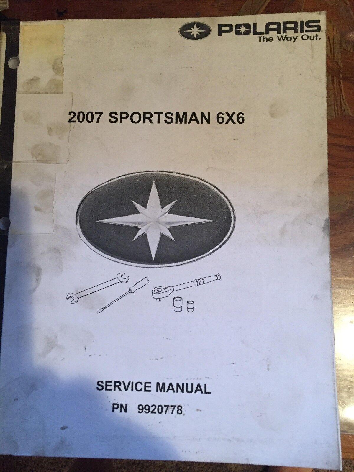 2007 Polaris Sportsman 6x6 Service Manual PN  9920778
