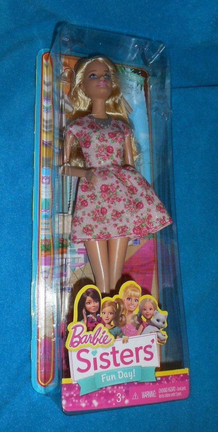 Brand New Mattel Barbie Sisters Sledding Fun Xmas Skipper Holiday Snowman