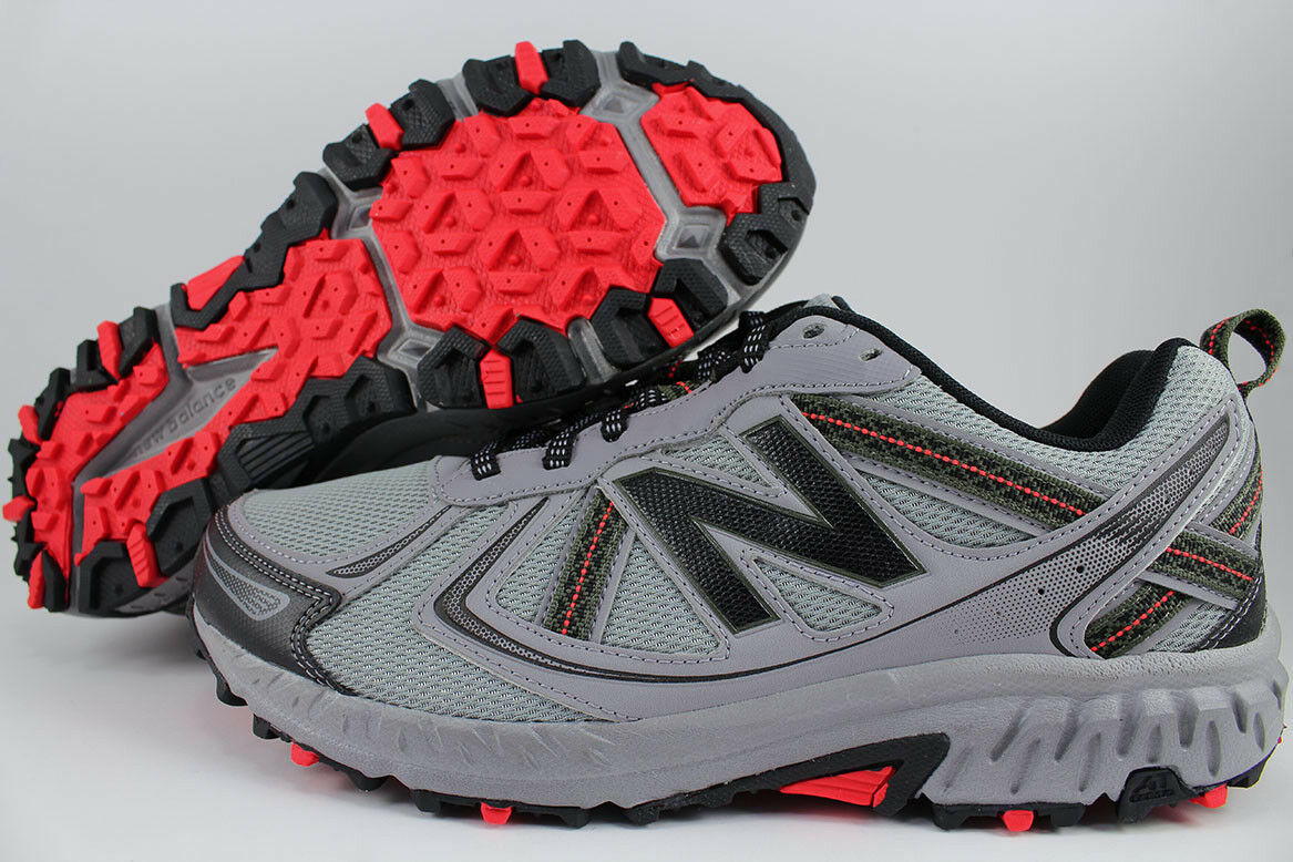 NEW BALANCE 410 V5 WIDE 4E EEEE GRAY/BLACK/ORANGE TRAIL RUNNING MT410CS5 MENS SZ