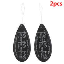 2PCS Aluminum Needle Threader Letter Hand Machine Stitch Insertion Sewing T BF