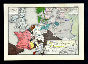 1873 Labberton Map - Europe in 1648 Peace of Westphalia Habsburgs ...