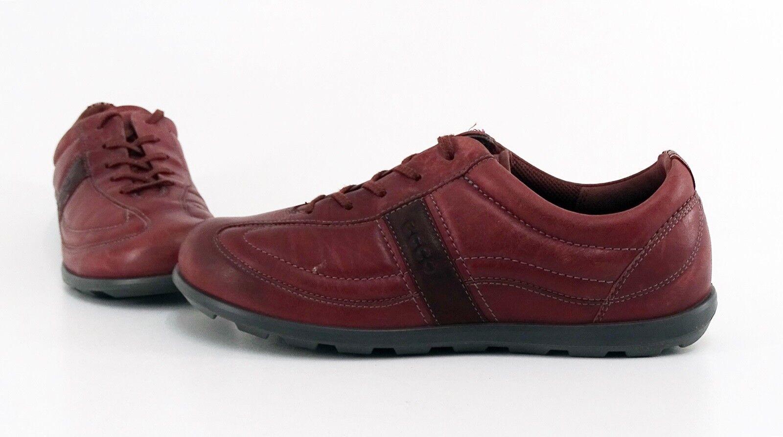 Halbschuhe Halbschuhe Halbschuhe ECCO Sneaker Schnürer Echtleder rot Gr. 39 d378f6