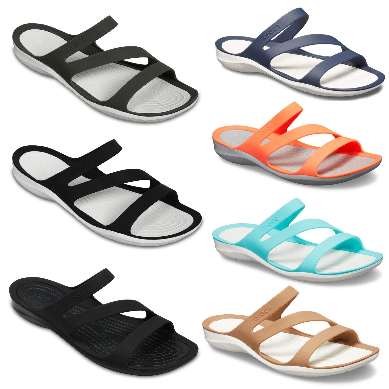 Crocs Sandals Swiftwater Beach Holiday Womens Slip On 2020 Open Toe UK 4-8