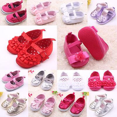 Nice Top Cute Baby Girls Newborn Toddler Bright PU Prewalker Shoes For 0-1Y Kids