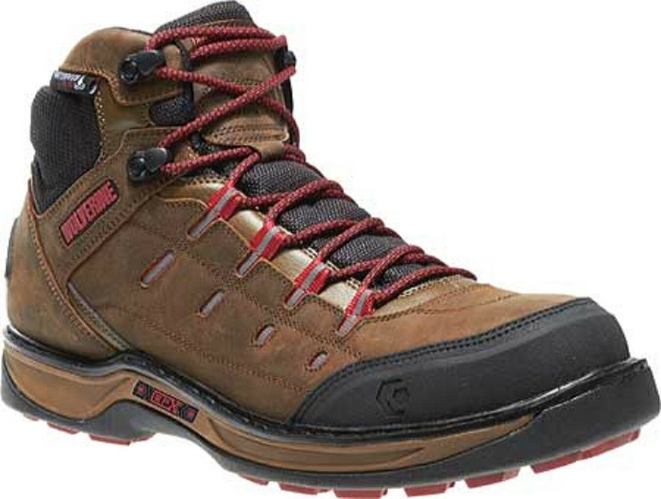 WOLVERINE W10552-M EDGE LX  Mn's (M) braun rot Nubuck Leather CT Work Stiefel