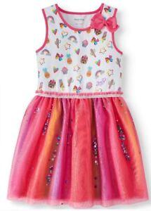 Neuf Avec étiquettes Nickelodeon Jojo Siwa Robe Rose Taille 4 5 7 8 10 12 14 16-afficher Le Titre D'origine Les Clients D'Abord