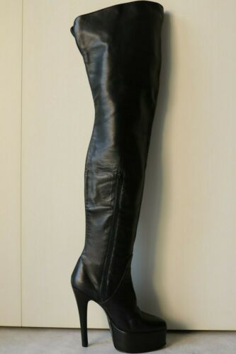 Leather thigh high boots size 42, US 11/12