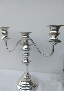 Superb-Vintage-English-Sheffield-Silver-Plate-Candelabra-Tall-11-034-Lovely-Quality