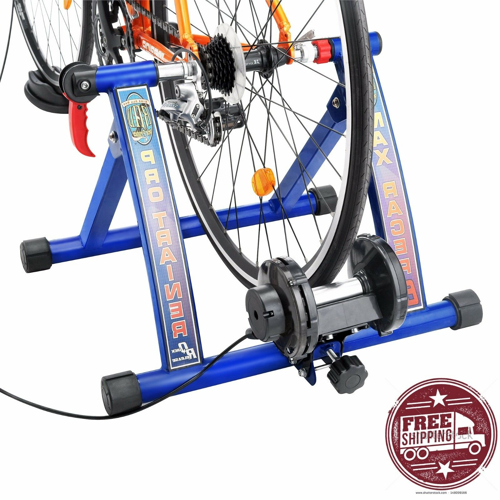 Resistance Exercise Bike Stationary Trainer Stand Magnetic Portable Roller Indoo
