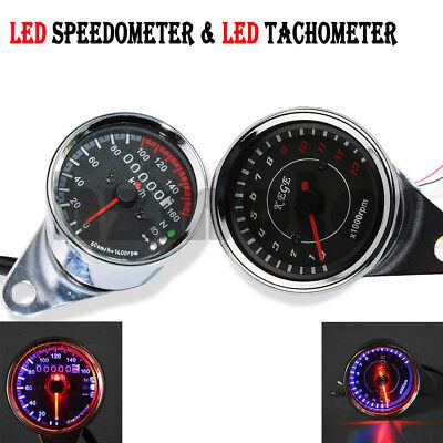 FidgetKute Odometer Speedometer Gauge Fit for Cafa Racer Chopper Cruiser Sport Touring Bike