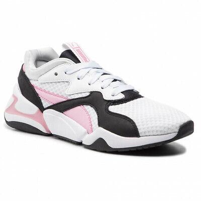 Details about Shoes Puma Nova 90'S Bloc WN0S White Pale Pink 369486 03 White Pink Gue Pequen