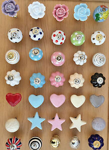 NEW GISELA GRAHAM CERAMIC DRAWER KNOBS DOOR KNOBS DRAWER PULLS