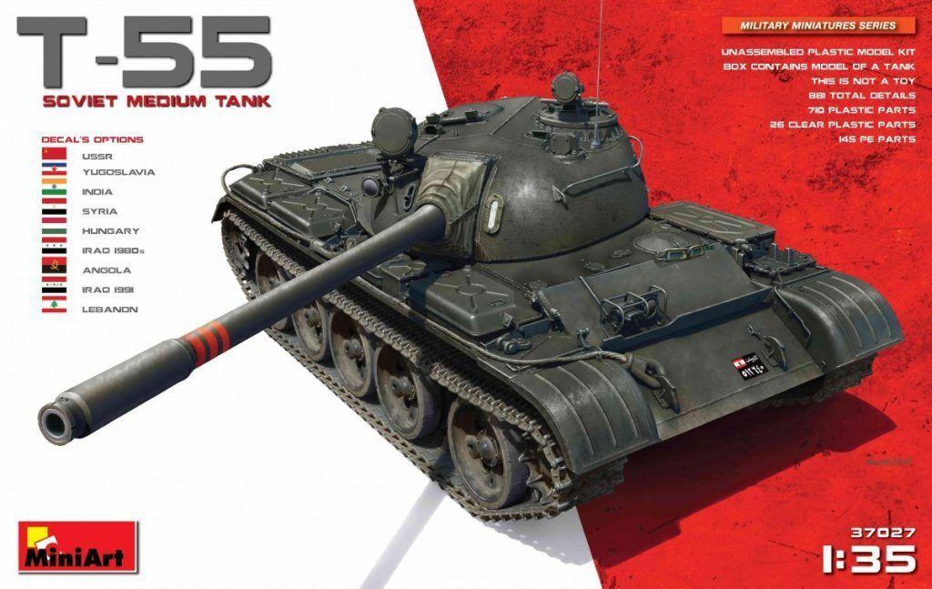 MINIART  37027 Soviet Medium Tank T-55 in 1 1 1 35  | Schöne Farbe  a5bca2
