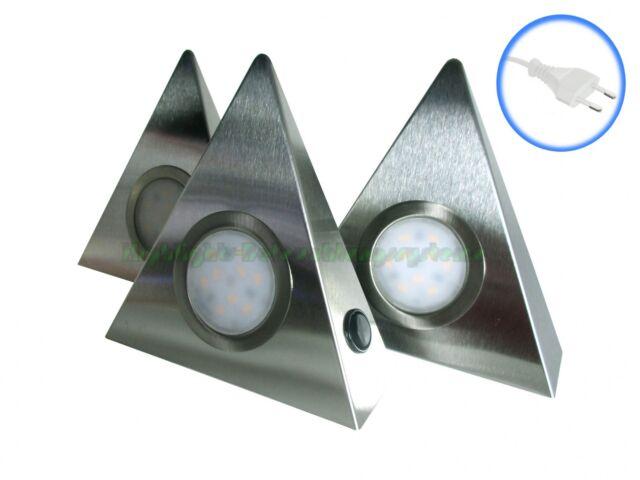 3er LED WARMWEIß Dreieckleuchte Dreiecksleuchten Unterbauleuchte Küchenleuchte
