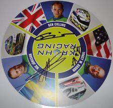 Le Mans 2014 WEC ELMS Krohn AF Ferrari Top Gear The Stig Ben Collins Signed Card