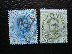 Italy-Stamp-Yvert-and-Tellier-N-61-62-Obl-A11-Stamp-Italy-R