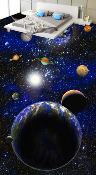3D Earth Planet 4074 Floor WallPaper Murals Wallpaper Mural Print AJ AU Lemon