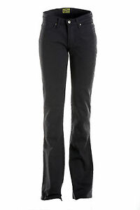 Draggin-Jeans-Skins-Ladies-Black-Denim-Motorcycle-Trousers-New-RRP-159-99