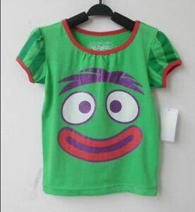 YO-GABBA-GABBA-BROBEE-Baby-GIRL-GREEN-T-Shirt-Sizes-12-18-24mths-3yrs-4yrs-5yrs