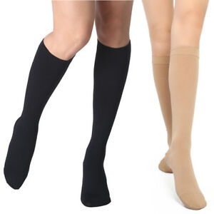 5f40f7b356 Image is loading Varicose-Vein-Medical-Knee-Compression-Socks-Support-Women-