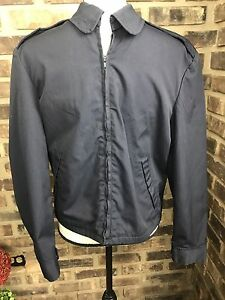 e4fd96852f4 1960 Vanderbilt Shirt Co Men s Zip Work Jacket 36 S US Navy Issue ...