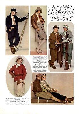 Rapimento 20er Anni Sport Invernali Xl Moda Pagina 1928 Mill Onore Pietra Mable Inverno Moda-