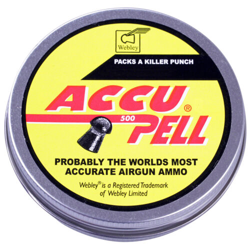 Webley ACCUPELL Domed Airgun Air Rifle PELLETS Hunting Target 177 20 22 500 Tin