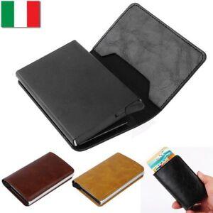a71ea90fb3 Caricamento dell'immagine in corso Portafoglio-Uomo-RFID-Porta-Carte-di- Credito-Fermasoldi-