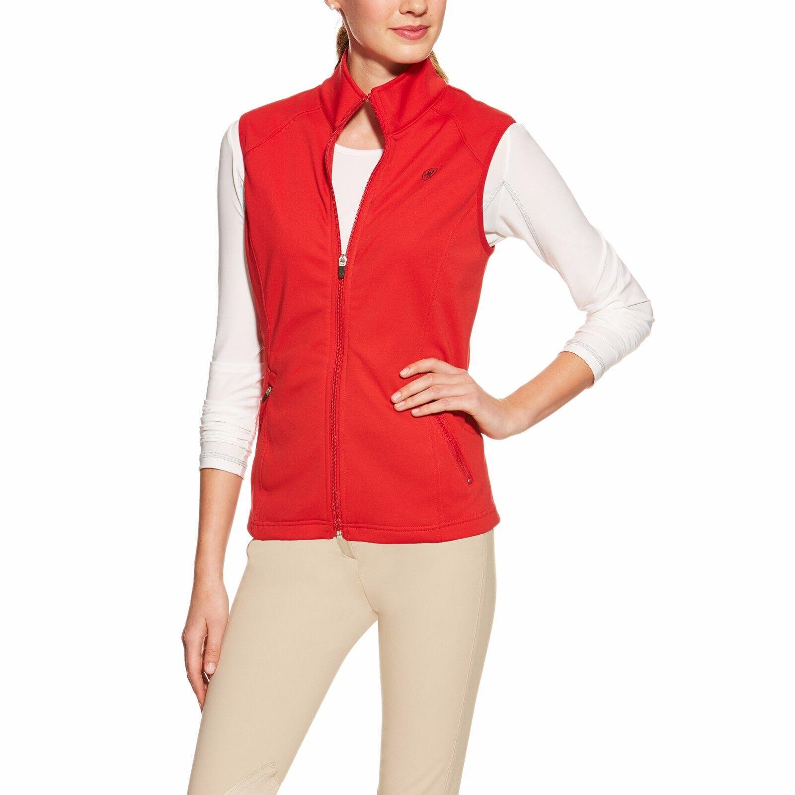 ARIAT - Women's Conquest Fleece Vest  - Red - ( 10015849 ) - New
