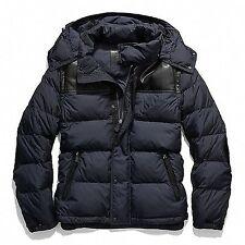 Coach Authentic Men's CLARKSON 83999 Navy Down Jacket/Vest w/Leather Small $598