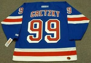 WAYNE GRETZKY New York Rangers 1999 CCM Throwback Home NHL Hockey ... 7823da623