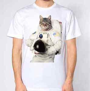 Cat-Astronaut-T-Shirt-NASA-Space-Moon-Kitten-Kitty-Animal-Lover-Top-Funny
