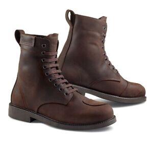 Détails sur Chaussures Bottines Moto Stylmartin District Wp Marron Mesure 44 Brown