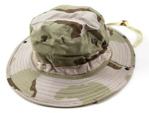 US Military 3 Color Desert Camo Boonie Jungle Hat DCU Type ll Size ... 3b92d68896a7