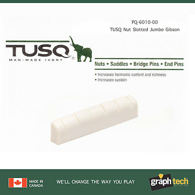 Graph Tech Tusq PQ-6010-00 slotted nut Jumbo Gibson Style NEW