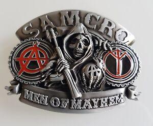 Boucle de ceinture Sons of Anarchy Samcro MEN OF MAYHEM tête de mort ... 17a12e3d10e