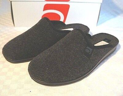 Brioso Rohde Pantofole Ciabatte Uomo Feltro Loden Facilmente Taglia 41 Stone/grigio 2684- Lieve E Dolce