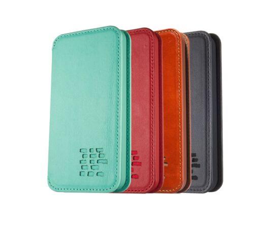 IPhone 7 Leather Slim Flip Case-véritable luxe en cuir sans personnalisation