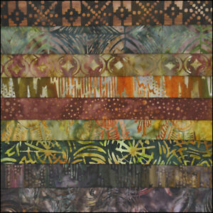 LOT-OF-9-FAT-QUARTERS-CORNUCOPIA-BATIKS-LUNN-FABRICS-SPECIAL-EDITION-FAT-QUARTER